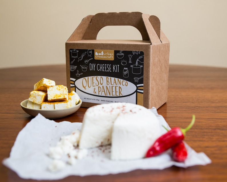 Paneer & Queso Blanco Cheese Kit cow milk image 0