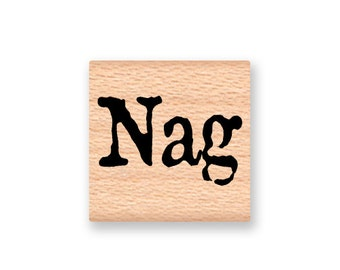 Nag~Rubber Stamp~Cute small stamp just for fun~Horse~Pony~Old Nag~Wood Mounted Stamp (43-32)