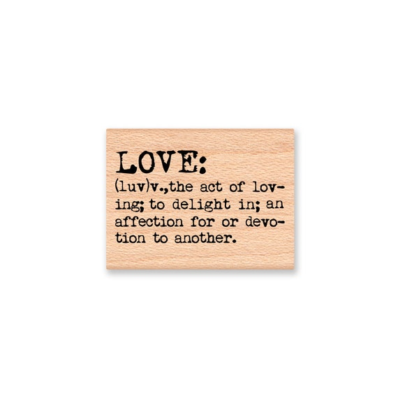 LOVE DEFINITION Wood Mounted Rubber Stamp MCRS 26 27
