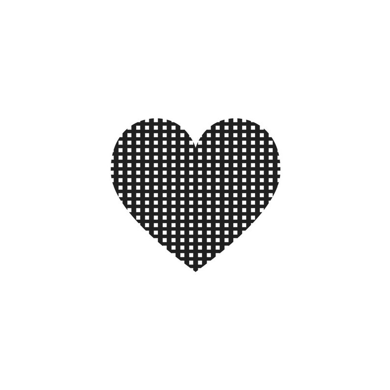 HEART RUBBER STAMP~Cling Stamp~Checked~Plaid~Pattern~Hearts~ Wedding~Birthday~Solid~Silhouette~Celebration~Happy Day~Celebrate~Party 57-19