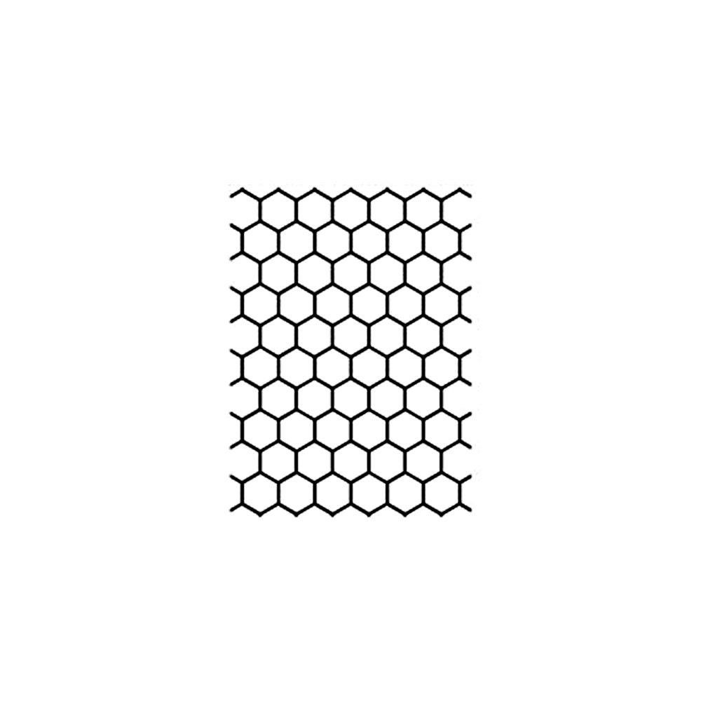 CHICKEN WIRE Rubber Stamp~Cling Stamp~BEE Hive~Honeycomb~Bumblebee ...