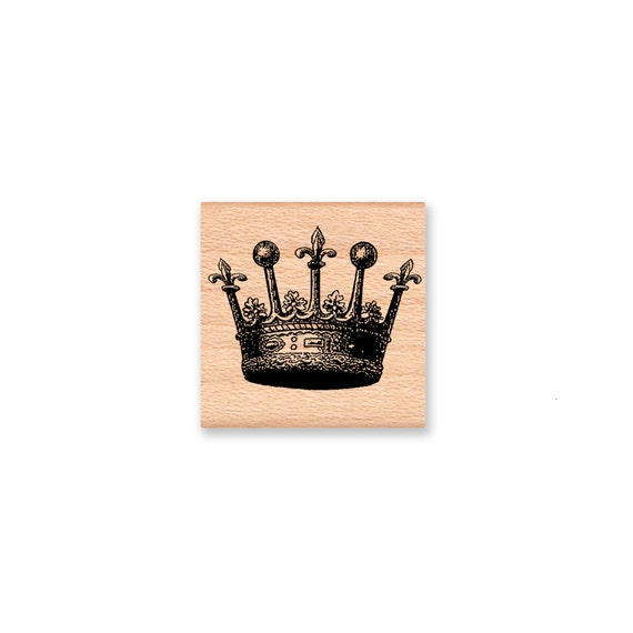 CROWN STAMP KING Or Queen Royal Crown Royalty Prince