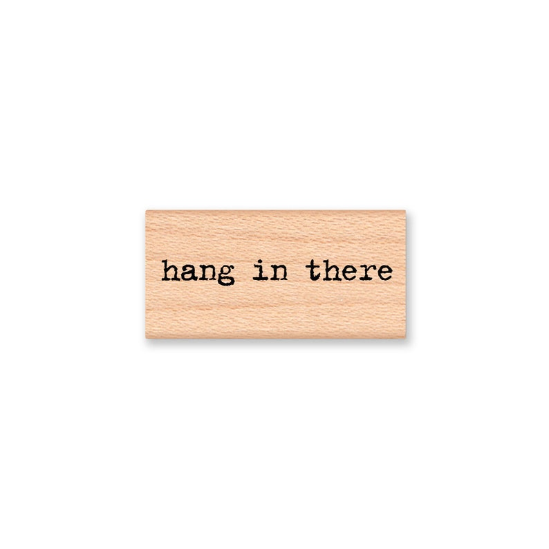 HANG IN THERE rubber stamp~wood mounted stamp by Mountainside Crafts 13-03