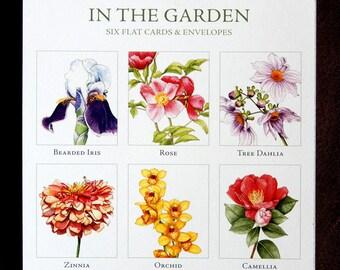 In the Garden flat card set No. 1