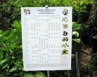 Vegetable Planting Calendar for San Francisco Bay Area - Digital Download