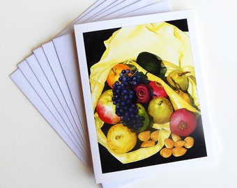 Home from the Market Card set • Blank Greeting Cards