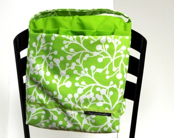 Bright Green and White Wheelchair and Walker Saddlebag