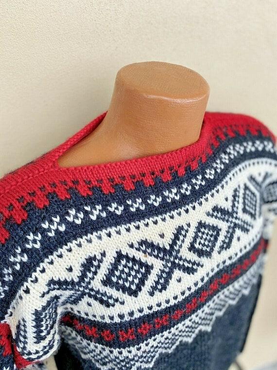 Vtg Fair Isle Haus Norway 100% Wool Sweater L XL G