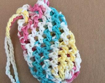 Colored Soft Scrubber Soap Sack