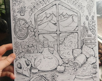 The Apothecary    Adult Coloring Page