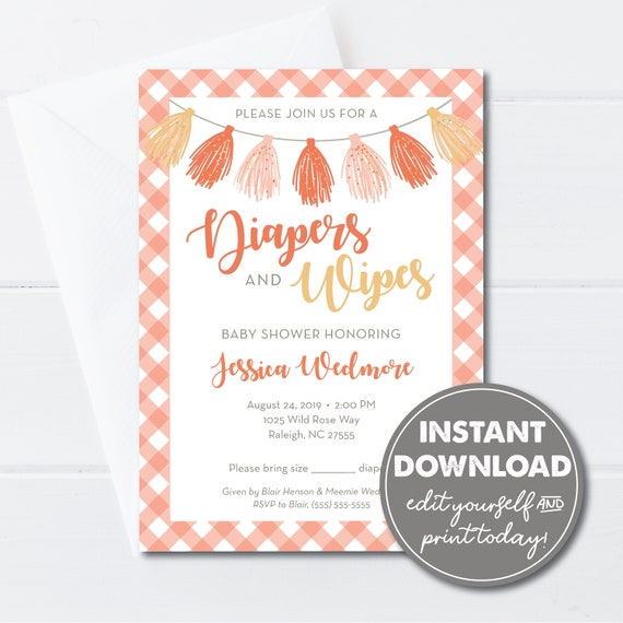 Diaper Baby Shower Invitations Template from i.etsystatic.com