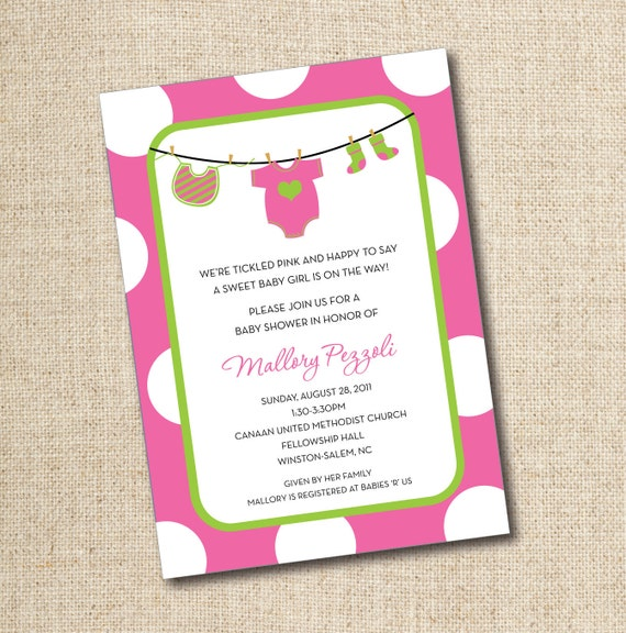 Baby Shower Invitationsstom Printable Digital File By Lily