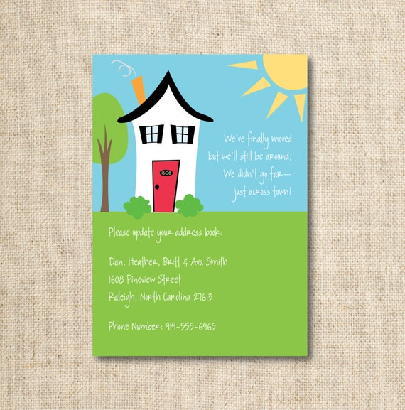 Moving New Address Announcement Digital File Etsy