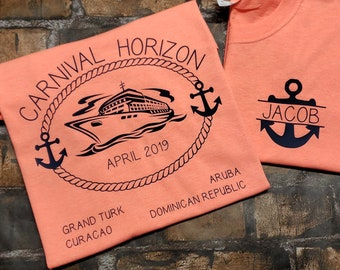 5b4cb62f Custom cruise t-shirts. You choose colors. Fruit of the Loom brand. Youth  XS, Ladies and Unisex to 6X**. Family cruise shirts.
