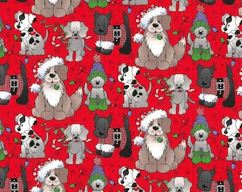 Animal Patch Fleece Fabric Counting Two by Two Fleece by Patty Reed BTY