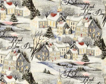 Susan Winget Old World Christmas Wintervale Premium Cotton Fabric by the yard