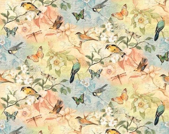 Susan Winget Birds of a Feather Premium Cotton Fabric by the yard and by the half yard