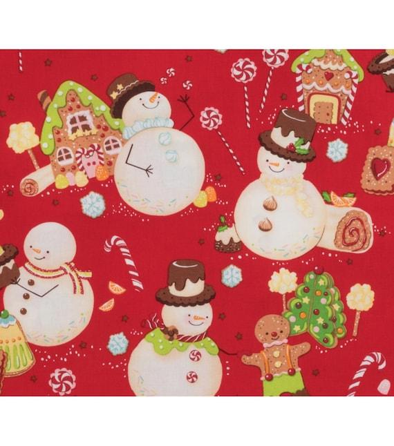 Snowfriends Snowmen,Vintage 1996 Alexander Henry Print Fabric,100/% Cotton,9\u201dx22\u201d Fat Eighth Fast shipping!