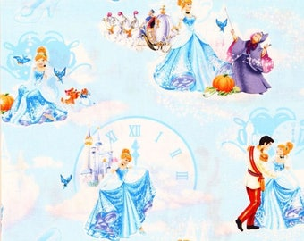 Disney Cinderella at the Ball Cotton Fabric sold by the yard