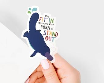 platypus vinyl sticker - australian animal stickers, laptop sticker, art journal sticker, planner sticker, positive sticker, gift for girls