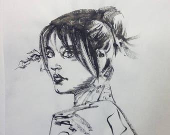Inktober jour 26 «Joi» Art Original