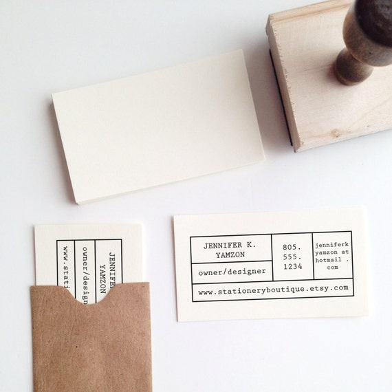 Make Your Own Business Card Stamp Etsy
