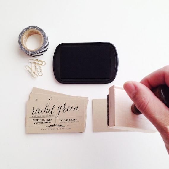 Laurel business card stamp colourmoves