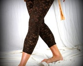 Brown Country Cotton Lace Leggings