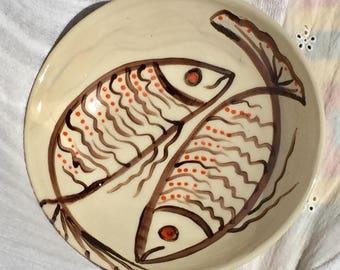 Orange is the new fish, ceramic bowl