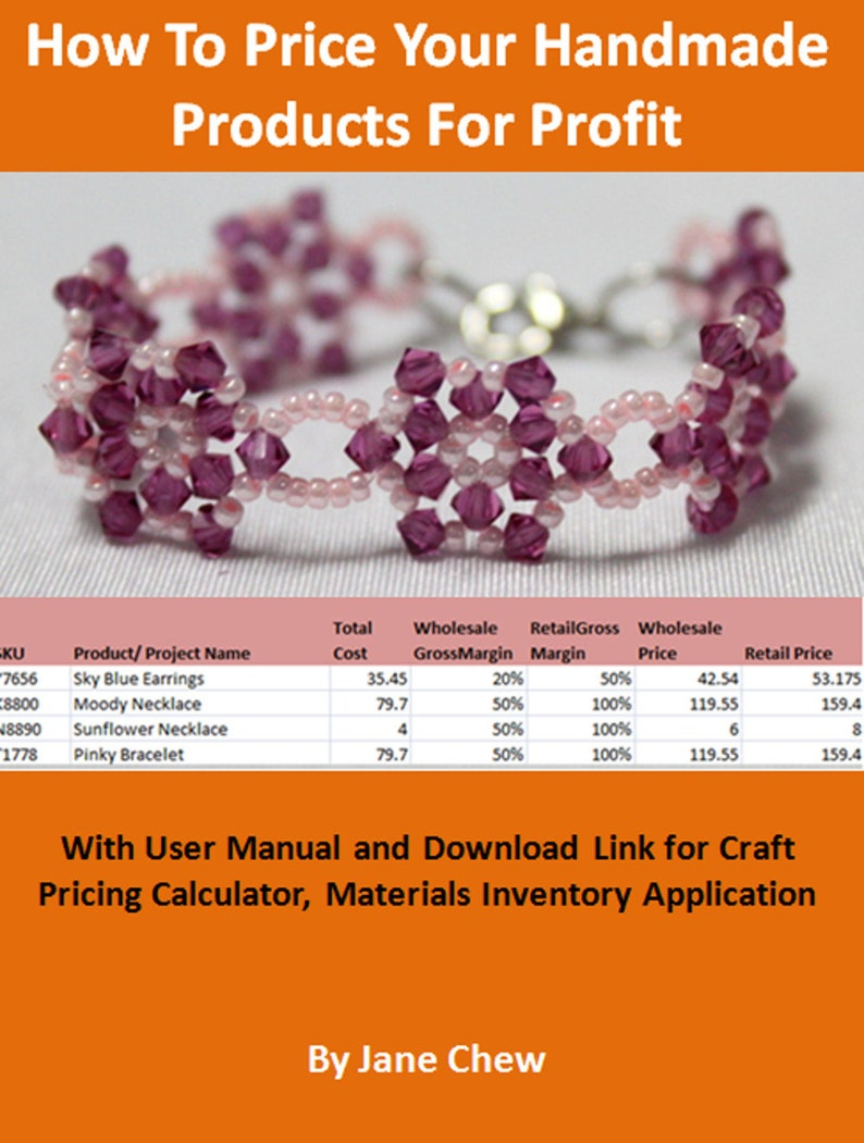 Jewelry Craft Pricing Calculator Materials Inventory And Etsy