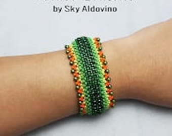 Right Angle Weave, Layered Right Angle Weave Tutorial, Bracelet Tutorial l99
