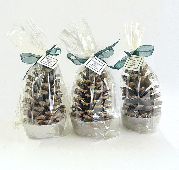 25 Pine Cone Fire Starter Wedding Favors Wedding Table Decor Etsy