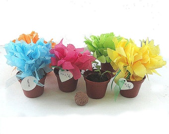 25 Flower Seed Wedding Favor Flowers Table Decorations Bridal Shower Favors Personalized Party Favor Tags