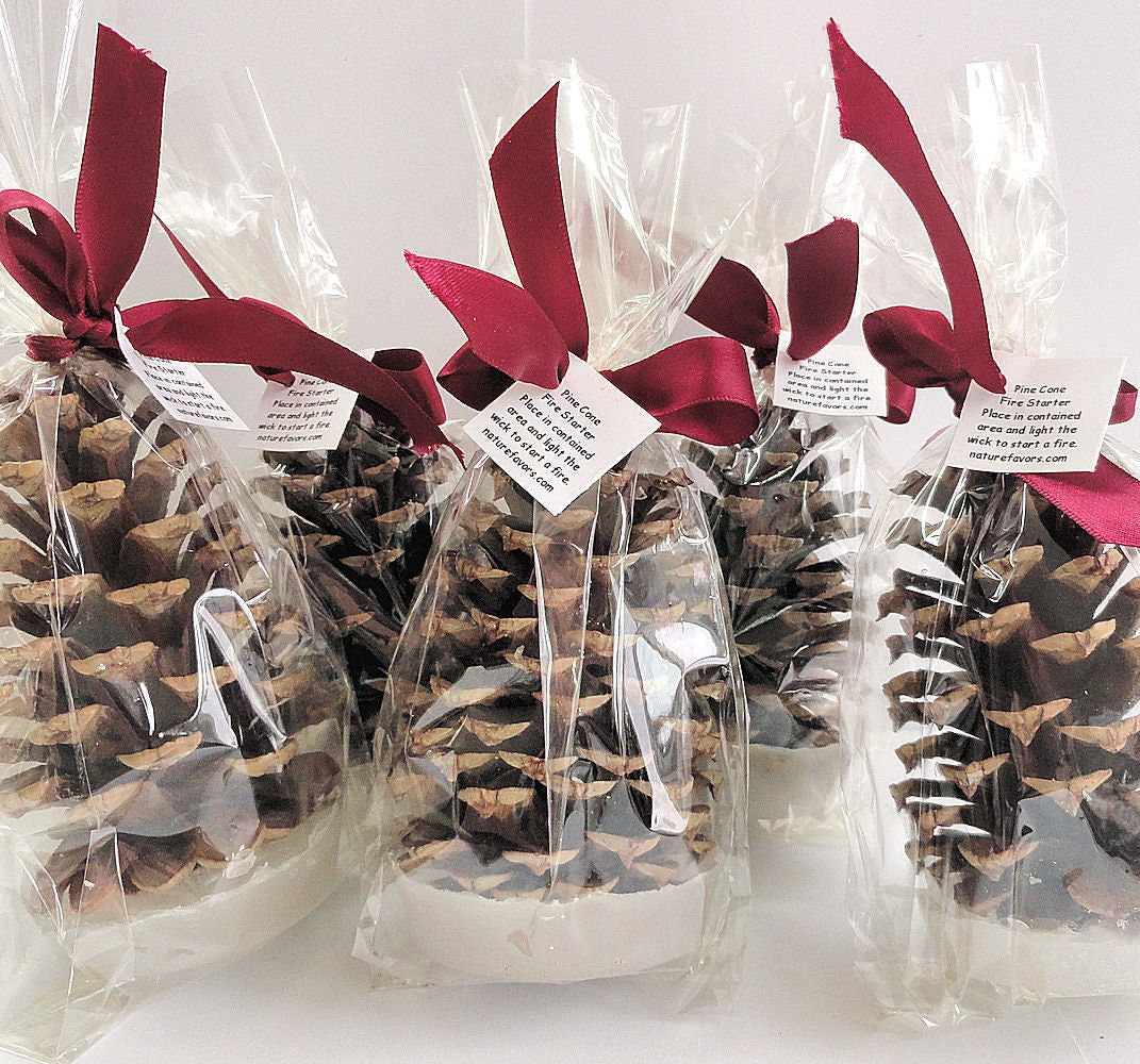 Pine Cone Fire Starter Corporate Christmas Party Favors Etsy