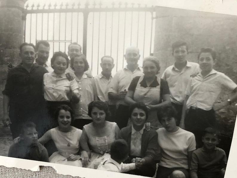 Family Photo Black and White Photograph Vintage Distressed Ephemera Junk Journal Crafting