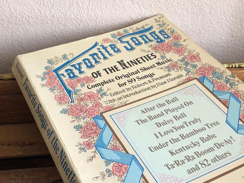Music Book Favorite Songs of the Nineties 1890s Sheet Music Vintage  Distressed