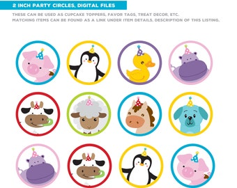 DIGITAL FILES Zoo Birthday, Zoo Animals Party Decorations, Safari Birthday, Petting Zoo, Jungle Party Decor, Party Kit