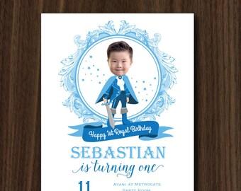DIGITAL FILE Little Prince Invitation, Prince Royal Invitation, Royal Prince Theme, Little Prince Birthday 5x7 IN