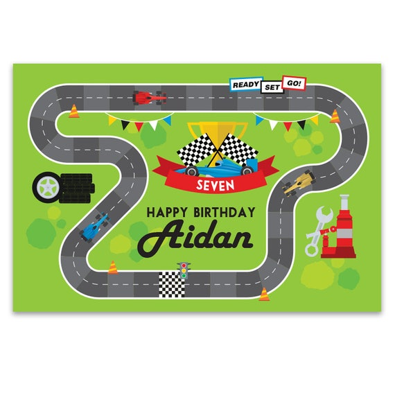 image regarding Printable Race Track referred to as Electronic Document Backdrop Poster: Race Monitor Birthday Printable Banner Backdrop 60x40 inches, Race Automobile Birthday Backdrop Poster PDF