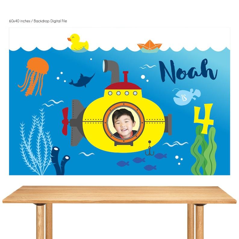 DIGITAL FILE Yellow Submarine Birthday Submarine Birthday image 0