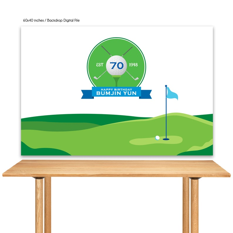 DIGITAL FILE Golf Party Printable Banner Backdrop Golf Party image 0