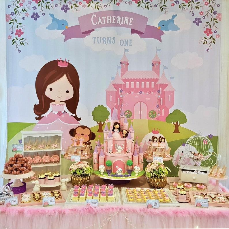 DIGITAL FILE Princess Castle Party Decoration Two Sizes image 0
