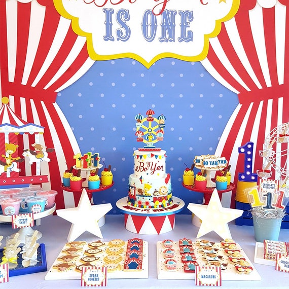 DIGITAL FILE Party Kit Carnival Animals Decorations Party