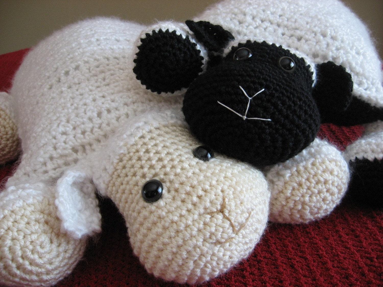 Crochet Lambcute And Cuddly Crochet Critter Pillowcrochet Etsy