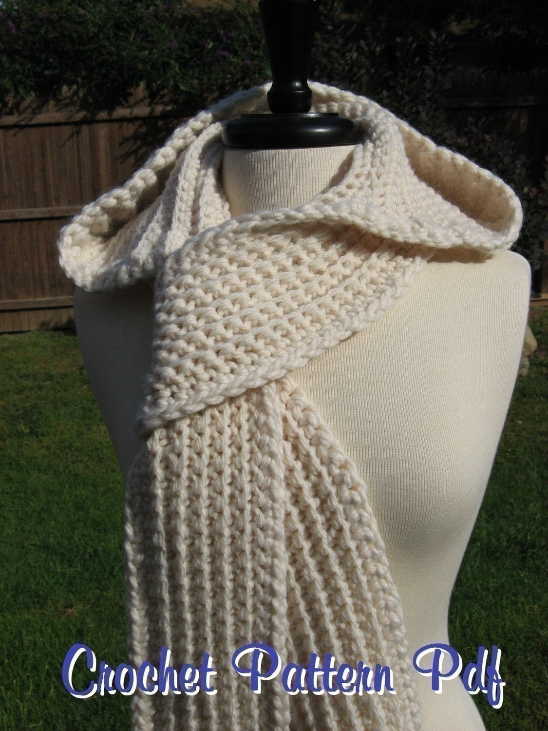 Nordic Hooded Scarf Crochet Pattern Pdf Instant Download Etsy