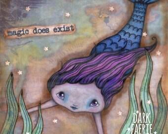 Mermaid Magic - 8x8 Signed Print