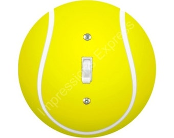Tennis Ball Single Toggle Switch Plate Cover