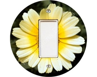 Yellow Daisy Flower Decora Rocker Switch Plate Cover