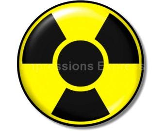 Radioactive Sign Round Mousepad