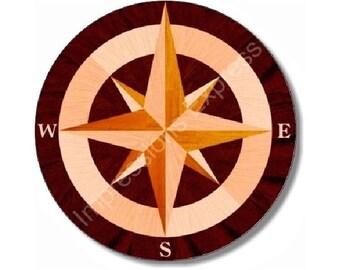 Nautical Compass Round Mousepad